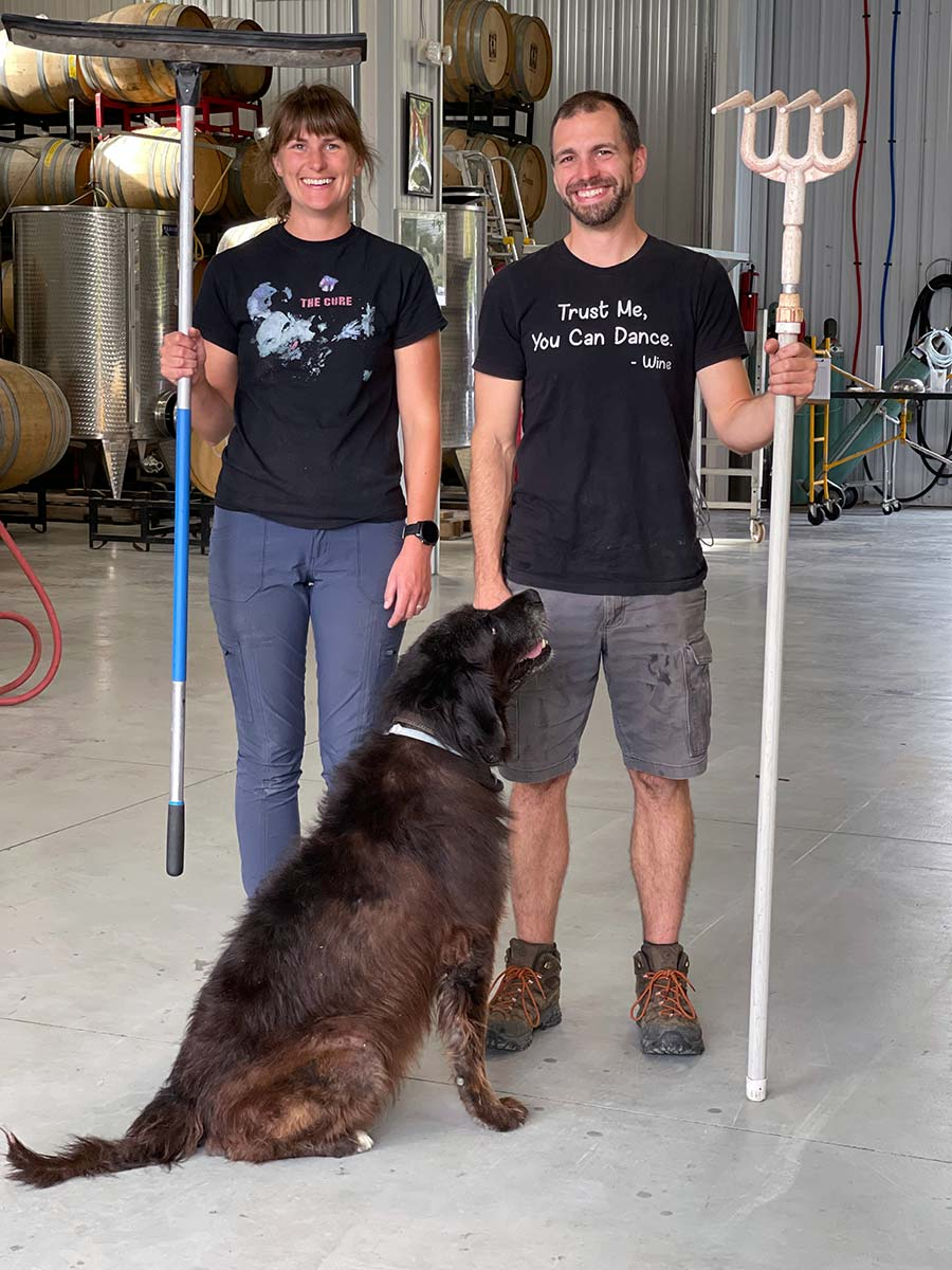 Winemakers, Katey and Phil